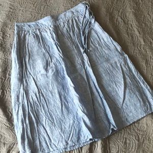 J. Crew Chambray Linen Skirt
